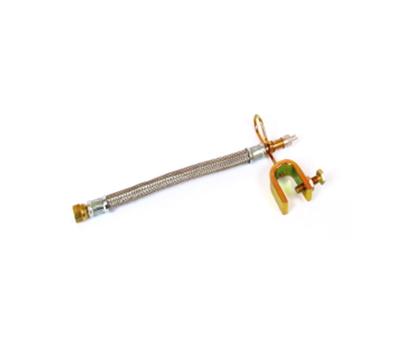 Удлинитель для подкачки внутр.колес в метал.оплетке+ кроншт. (25см.), JC-045-25CM /2366
