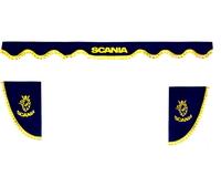 Шторки на лобовое+боковые стекла Скания цвет синий/2433 SCANIA