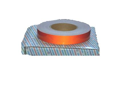 Лента светоотражающая(наклейка) 25 мм* 50м красная/2443