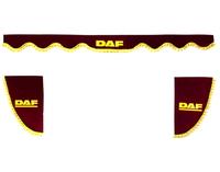 Шторки на лобовое+боковые стекла DAF цвет бордовый/2447 DAF