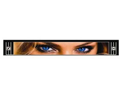 """Брызговик для прицепа """"метла"""" с рисунком """"Глаза"""" 350*2400/2462"""