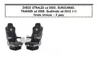 Чехлы IVECO STRALIS от 2003, E-CARGO,TRAKKER от 2008, ECO STRALIS от 2013 1+1 сидения /2532 IVECO