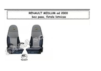 Чехлы RENAULT MIDLUM от 2000 сидения вращ. 1рем /2533 RENAULT