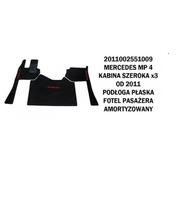 Коврик велюр MERCEDES MP IV от 2011 широкая кабина x3 пол плоский, сидение пассажира аморт./3004 MERCEDES-BENZ