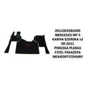 Коврик велюр MERCEDES MP IV от 2011 широкая кабина x3  плоский пол сидение пассажира не аморт./3005