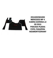Коврик велюр MERCEDES MP IV от 2011 широкая кабина x3  плоский пол сидение пассажира не аморт./3005 MERCEDES-BENZ