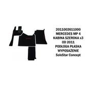 Коврик велюр MERCEDES MP IV от 2011 широкая кабина x3  плоский пол SoloStar Concept /3006 MERCEDES-BENZ