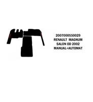 Коврик велюр RENAULT MAGNUM от 2002 SALON manual+automat/3011 RENAULT