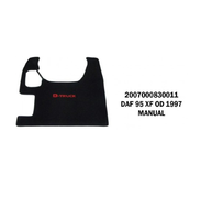 Коврики велюровые середина DAF 95 XF от 1997 manual/3041 DAF