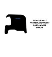 Коврики велюровые середина IVECO STRALIS от 2003 узкаякабина manual IVECO