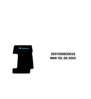 Коврики велюровые середина MAN TGL от 2005 MAN