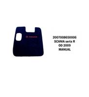 Коврики велюровые середина SCANIA  R от 2009 manual SCANIA