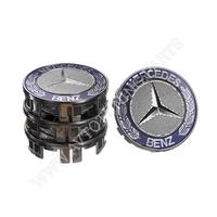 Заглушка колесного диска Mercedes 75x70  серый ABS пластик (4шт.) (50034)