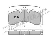 Тормозные колодки для RVI AE.DXI, VO.FH 05-/3699 RENAULT
