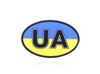 """Наклейка знак """"UA"""" цветная (90х140мм)/5910"""