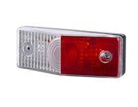 Горизонтальный красно-белый габаритный фонарь LO 283/6159