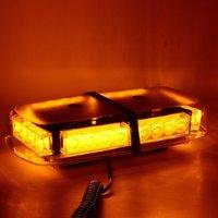 Световая панель (мини) - проблесковый маячок светодиодный оранжевый 12-24В (6654Y1224)