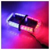 Световая панель (мини)-проблесковый маячок светодиодный красно - синий 12 В (6655R1224)