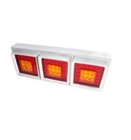 Задний фонарь LED 75  в хроме для грузовика, прицепа/6204