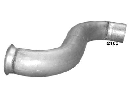 Колено выпускной трубы Рено Премиум/6208