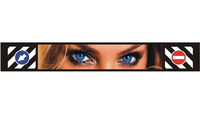 """Брызговик для прицепа """"метла"""" с объемным рисунком """"Глаза"""" 350*2400/6748"""