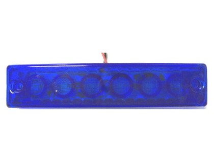 Габаритный фонарь Led 12/24 синего цвета/6753