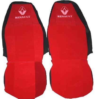 Чехлы на сидение Renault красные для грузовиков(6805)