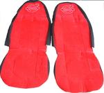 Чехлы на сиденья ВОЛЬВО красные для грузовиков(6808)