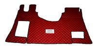 Коврики в салон MERCEDES Actros MP4 красные (еко кожа) для грузовиков(6863) MERCEDES-BENZ