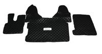 Коврики в салон Daf XF106 черные (еко кожа) для грузовиков(6868) DAF