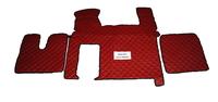 Коврики в салон Man TGX красные (еко кожа) для грузовиков(6871) MAN