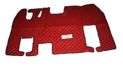 Коврики в салон Renault Magnum красные (еко кожа) для грузовиков(6886)