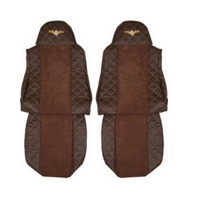 Чехлы на сидения DAF XF95, XF105 до 2012г, коричневые(6896)
