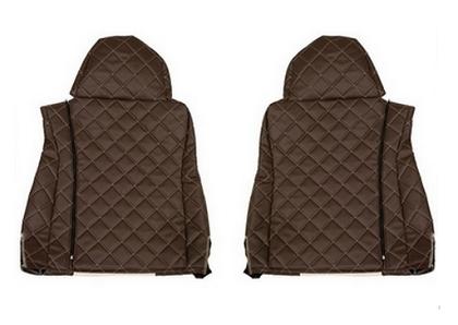 Чехлы на сидения DAF XF95, XF105 до 2012г, коричневобежевые(6897)