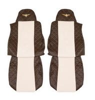 Чехлы на сидения DAF XF95, XF105 до 2012г, коричневобежевые(6897) DAF