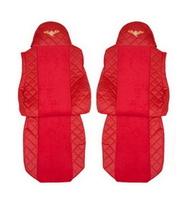 Чехлы на сидения DAF XF95, XF105 до 2012г, красные(6898) DAF