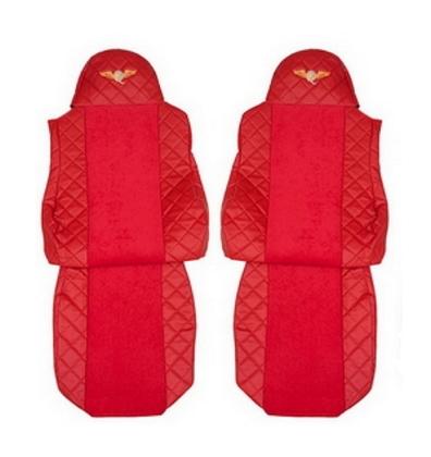 Чехлы на сидения DAF XF95, XF105 до 2012г, красные(6898)