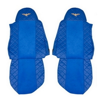 Чехлы на сидения DAF XF95, XF105 до 2012г, синие(6900) DAF