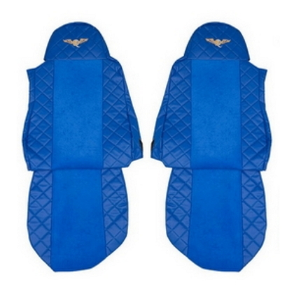 Чехлы на сидения DAF XF95, XF105 до 2012г, синие(6900)