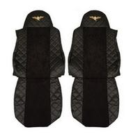 Чехлы на сидения DAF XF95, XF105 до 2012г, черные(6901) DAF