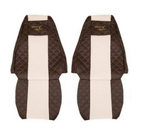 Чехлы на сидения RENAULT MAGNUM 2002-2012г, коричневобежевые (6906) RENAULT