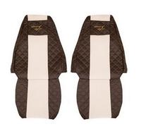 Чехлы на сидения VOLVO FH 2001-2012г, коричневобежевые(6947) VOLVO