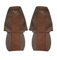 Чехлы на сидения VOLVO FH 2001-2012г, коричневые(6948) VOLVO
