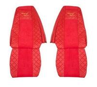 Чехлы на сидения RENAULT MAGNUM 2002-2012г, красные (6908) RENAULT