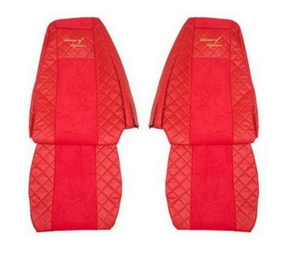 Чехлы на сидения VOLVO FH 2001-2012г, красные(6949)