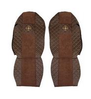 """Чехлы на сидения MERCEDES ACTROS """"3"""" 2008-2012г, коричневые (по два выреза на каждой спинке сидения)(6914) MERCEDES-BENZ"""