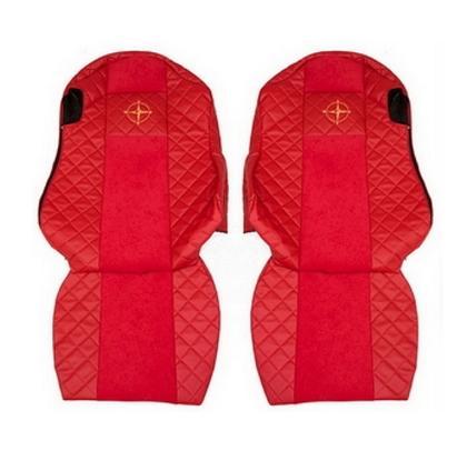 Чехлы на сидения SCANIA R,G,P, красные(6952)