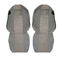 Чехлы на сидения SCANIA R,G,P, серые, сидения разной высоты(6955) SCANIA