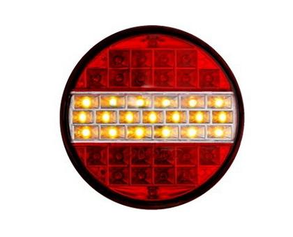Задний фонарь диодный круглый (12-24вольт) для грузовиков(6975)