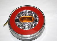 Задний диодный,круглый фонарь 4-х функциональный для грузовиков(6984)